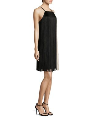 Dafryna Fringe Trim Dress