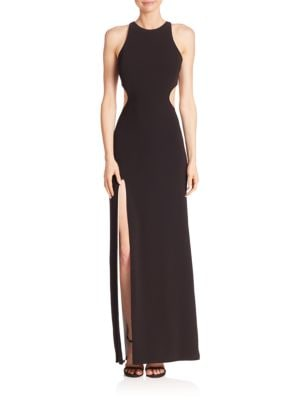 Sleeveless Back Cutout Gown