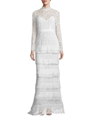 Primrose Tiered Lace Gown