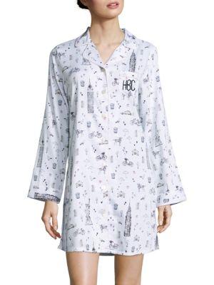 Personalized City-Print Sleepshirt