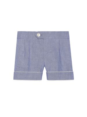gucci baby baby boys oxford cotton shorts