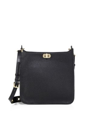 michael michael kors female 188971 textured large north south leather messenger bag