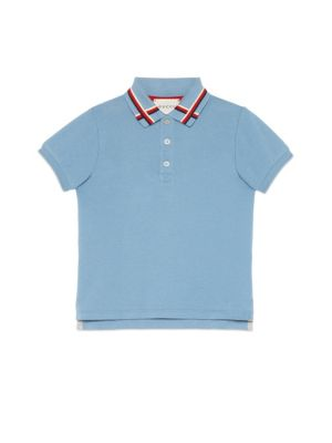 gucci boys little boys boys sylvie web stretchcotton polo