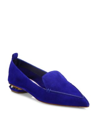 Beya Suede Point-Toe Loafers