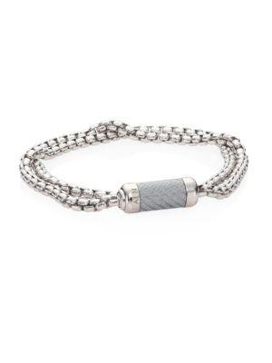 Monte Carlo Sterling Silver Double Wrap Bracelet