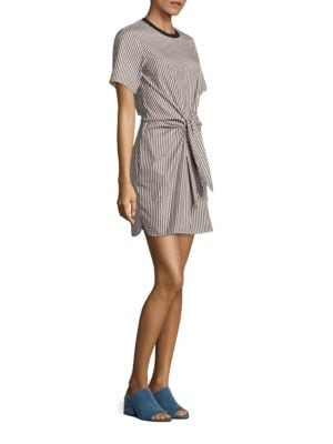 Cotton & Silk Tie-Front Dress