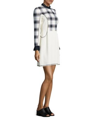 Surf Plaid Paneled Dress
