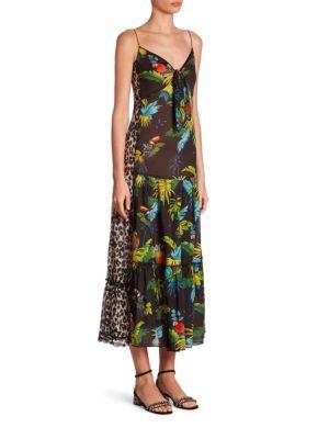 marc jacobs female parrot cami dress