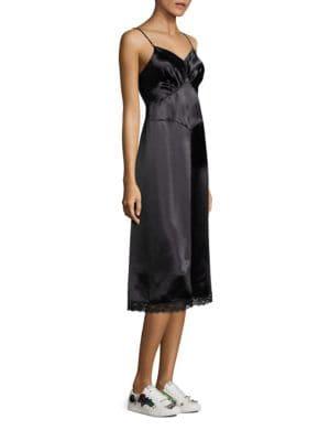 marc jacobs female vintage satin dress