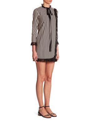 marc jacobs female striped babydoll dress