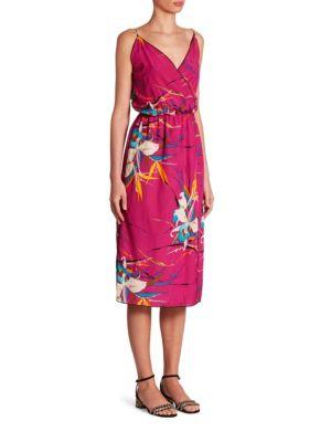 marc jacobs female tropical printed dress