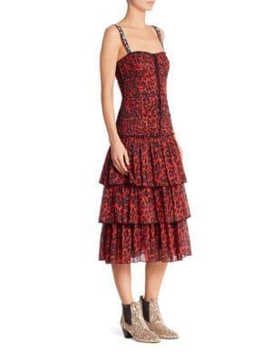 marc jacobs female leopard printed dress