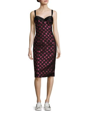 marc jacobs female fitted floral dress