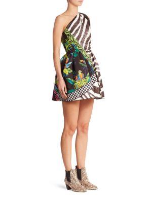 marc jacobs female zebra party dress