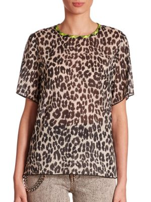 marc jacobs female leopard printed tee