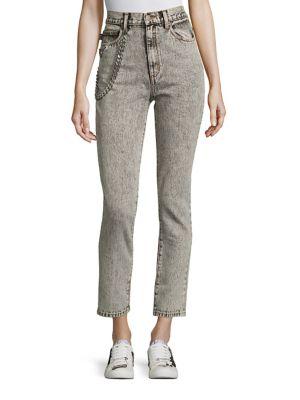 marc jacobs female embellished denim pants