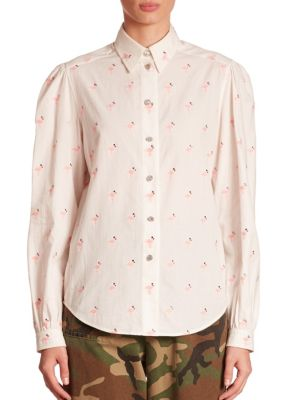 marc jacobs female flamingo cotton shirt