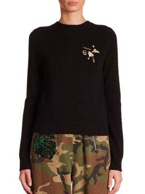 marc jacobs female button back sweater