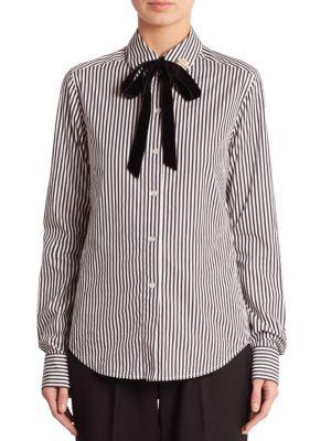 marc jacobs female striped poplin shirt