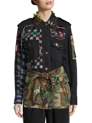 marc jacobs female belted military jacket