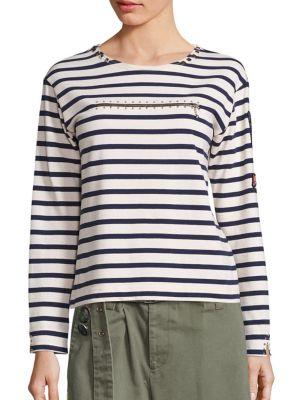 marc jacobs female breton striped top