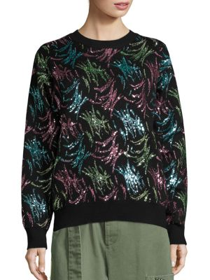 marc jacobs female embellished long sleeve pullover