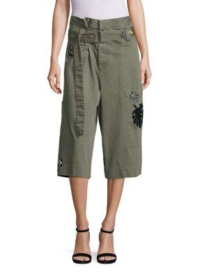 marc jacobs female long cargo shorts