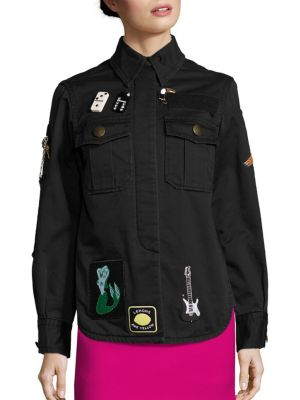 marc jacobs female padded military jacket