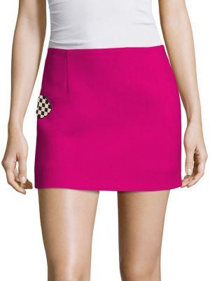 marc jacobs female wool mini skirt