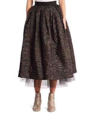 marc jacobs female crinkle taffeta skirt