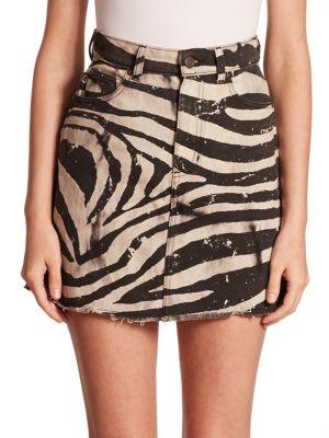 marc jacobs female zebra mini skirt