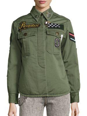marc jacobs female paradise military jacket