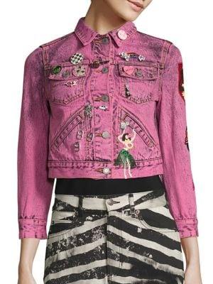 marc jacobs female cotton denim jacket