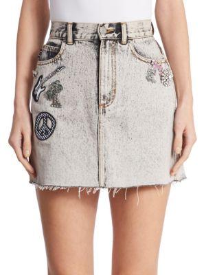 marc jacobs female denim mini skirt