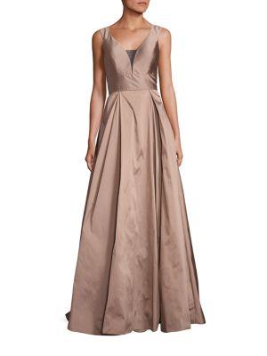 Illusion Taffeta Gown
