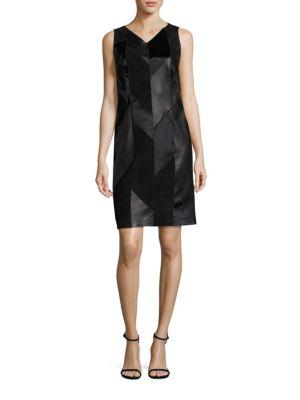 Syvila Calf Hair, Suede & Leather Dress