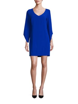 Crepe T-Body Tulip Sleeve Dress
