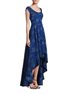 PLATINUM Jacquard Hi-Lo Gown