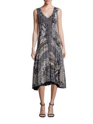 Lace Insert A-Line Dress by Fuzzi