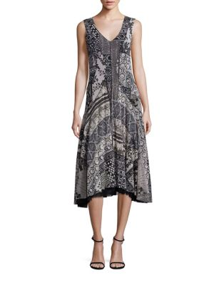 Lace Insert A-Line Dress
