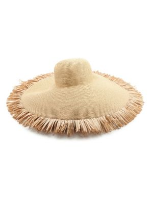 Floppy Fringe Straw Sun Hat