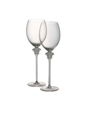 Set of Two Medusa Lumiere Red Wine Glasses