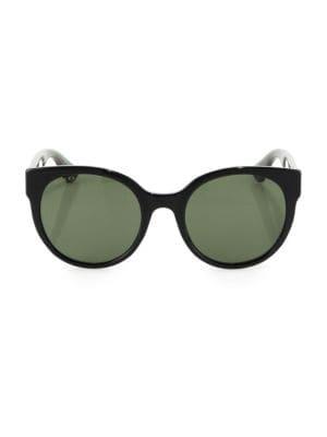 54MM Glitter Round Sunglasses