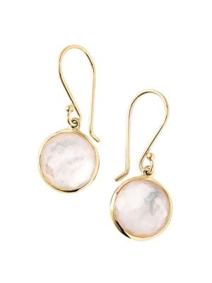 Lollipop® 18K Yellow Gold & Mother-Of-Pearl Doublet Mini Drop Earrings