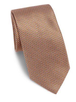 Azure Weave Printed Silk Tie