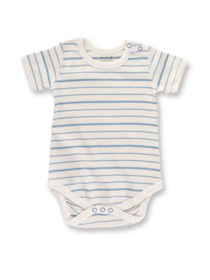Baby's Organic Cotton Striped Bodysuit