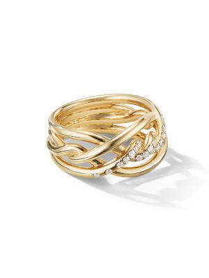 Continuance Ring with Diamonds in 18K Gold