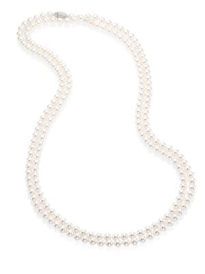 Faux Pearl Strand Necklace