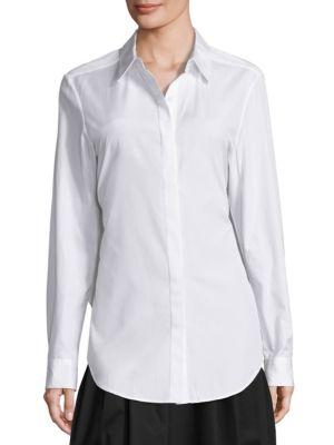 Cotton Button Front Shirt