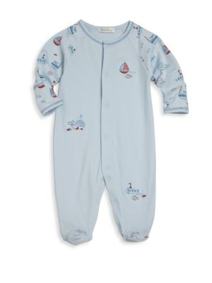 Baby's Ahoy There Pima Cotton Footie
